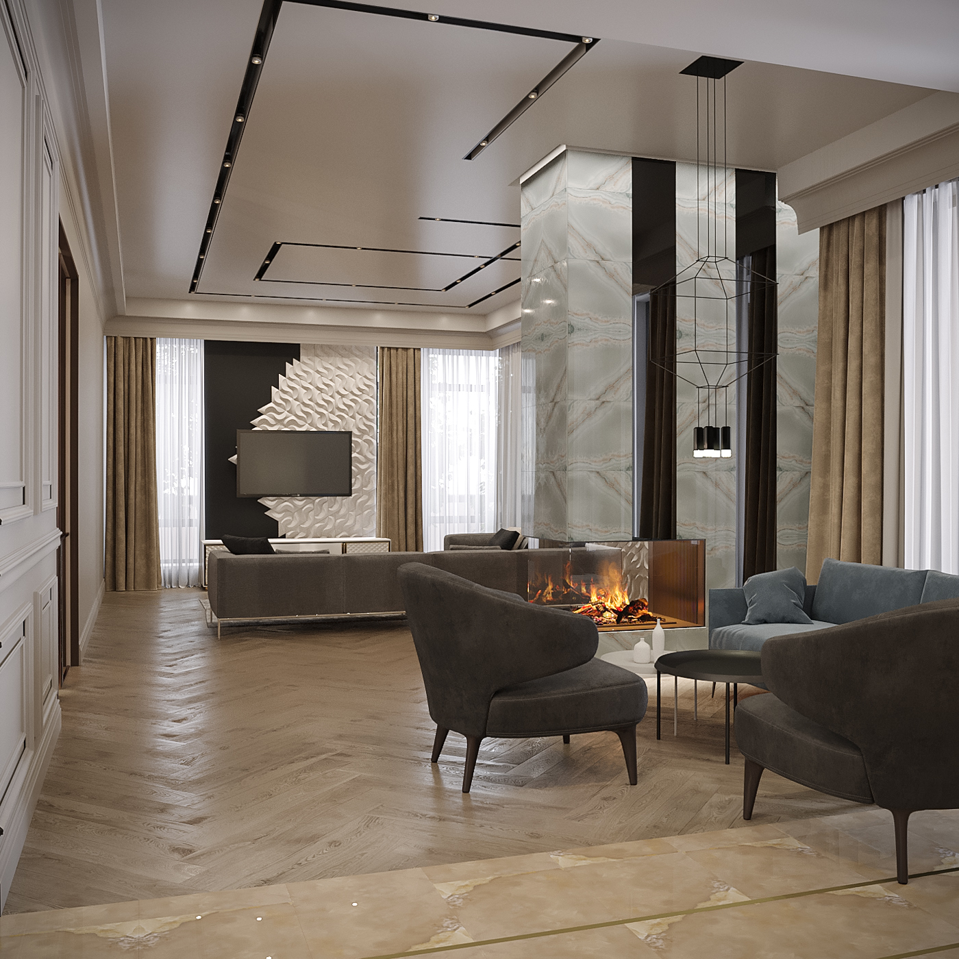 Дизайн-проект гостиной - Project4Home