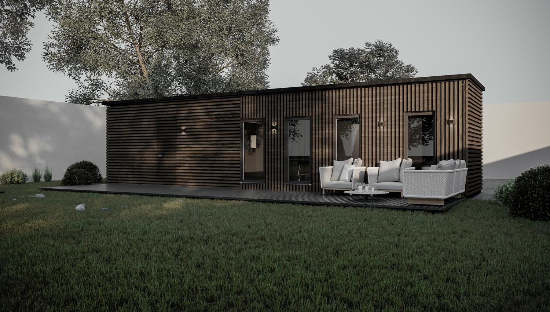 Экстерьер дома из морского контейнера - Project4Home