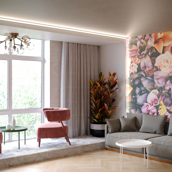 Дизайн-проект гостиной и холла в 3-х комнатной квартире - Project4Home